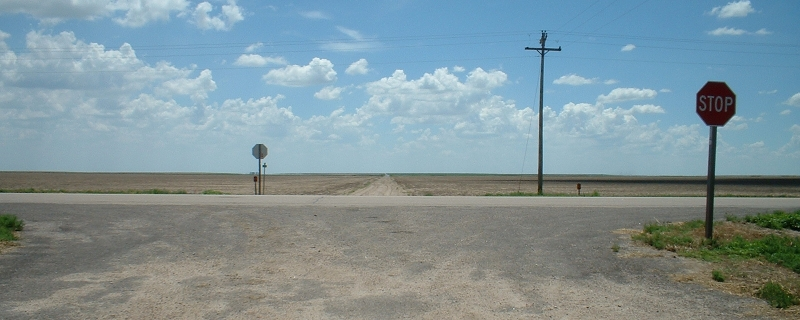 A hot day in Kansas, not far from the Colorado border