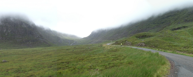 Going up the Bealach na Ba, Scotland