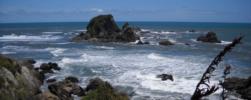 Cape Foulwind, New Zealand, named by Captain Cook