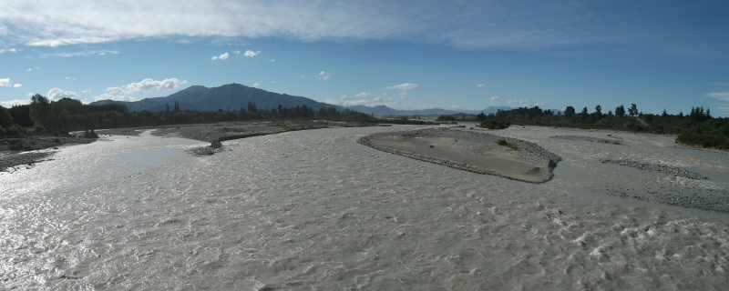 Orari River in Flood, New Zealand