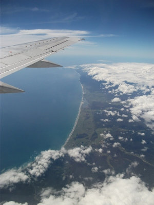 north west coast of south island, from a jet heading for Melbourne