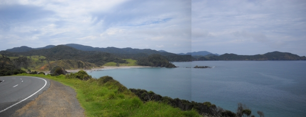 down the coast towards Whangarei from Russell