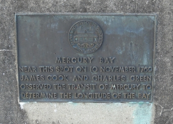 mercury bay commemorative plaque