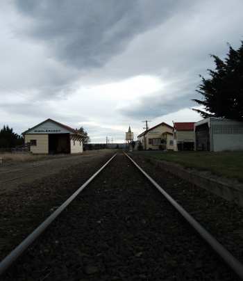 middlemarch station with clouds hovering