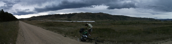 a puncture on the central otago wail trail